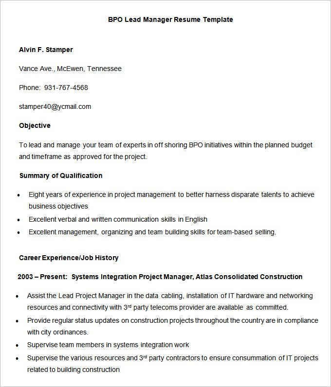 Best 25+ Standard resume format ideas on Pinterest Standard cv - waitress resume template
