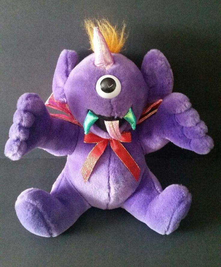MTY Flying Purple People Eater Monster Stuffed Plush Toy Sings Vibrates 12 Inch #MTYInternational