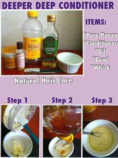 DEEPER DEEP CONDITIONER:With Items From Your Kitchen  *WHAT YOU WILL NEED: 1-A deep conditioner of your choice(I use Shea Moisture Raw Shea Butter Deep Treatment Masque) 2-Some kind of essential oil(I use EVOO and Carols Daughter TUI moisturizing hair oil  3-All natural honey  4-A deep bowl  5-A whisk or something to mix everything together with 6-A towel it can get messy