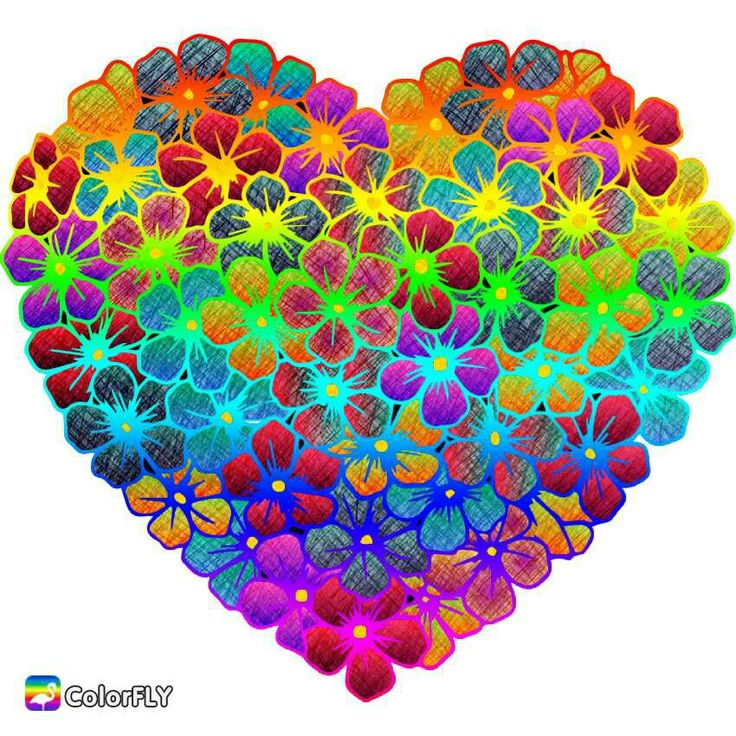 VERY Colorful Heart!