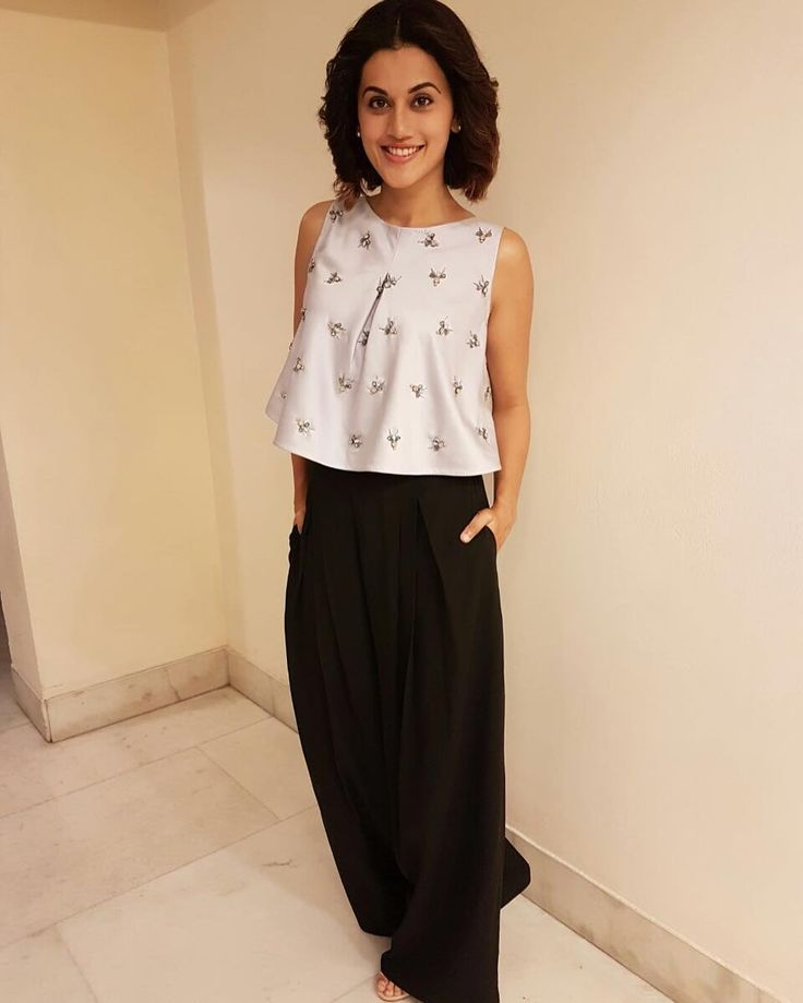 Tapsee Pannu in an outfit by Pranati and Sahib for interviews and an event for the movie Pink Picture: Instagram