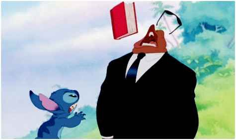 When Stitch became a menace to faces everywhere. | 27 Disney Cartoons Paused At Exactly The Right Moment