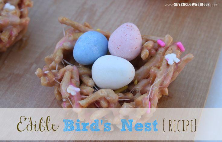 Edible Bird's Nest {recipe}  Marshmallows, chow mein noodles & butter