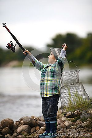 little boy fishing photography | Photo Of Little Boy Fishing Royalty Free Stock Photo - Image: 28251605