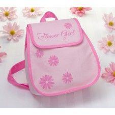 Niedlicher Rucksack in rosa & pink als kleines Dankeschön für Euer Blumenmädchen