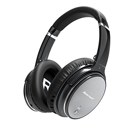 Hiearcool L1 Active Noise Canceling Bluetooth Headphones HiFi Stereo Wireless Over-ear Earphones with Mic and Volume Control for all 3.5mm Jack & Bluetooth Devices - Iron Grey  https://topcellulardeals.com/product/hiearcool-l1-active-noise-canceling-bluetooth-headphones-hifi-stereo-wireless-over-ear-earphones-with-mic-and-volume-control-for-all-3-5mm-jack-bluetooth-devices-iron-grey/  Active Noise Reduction — Reduces most of surrounding noise for work, travel, and a