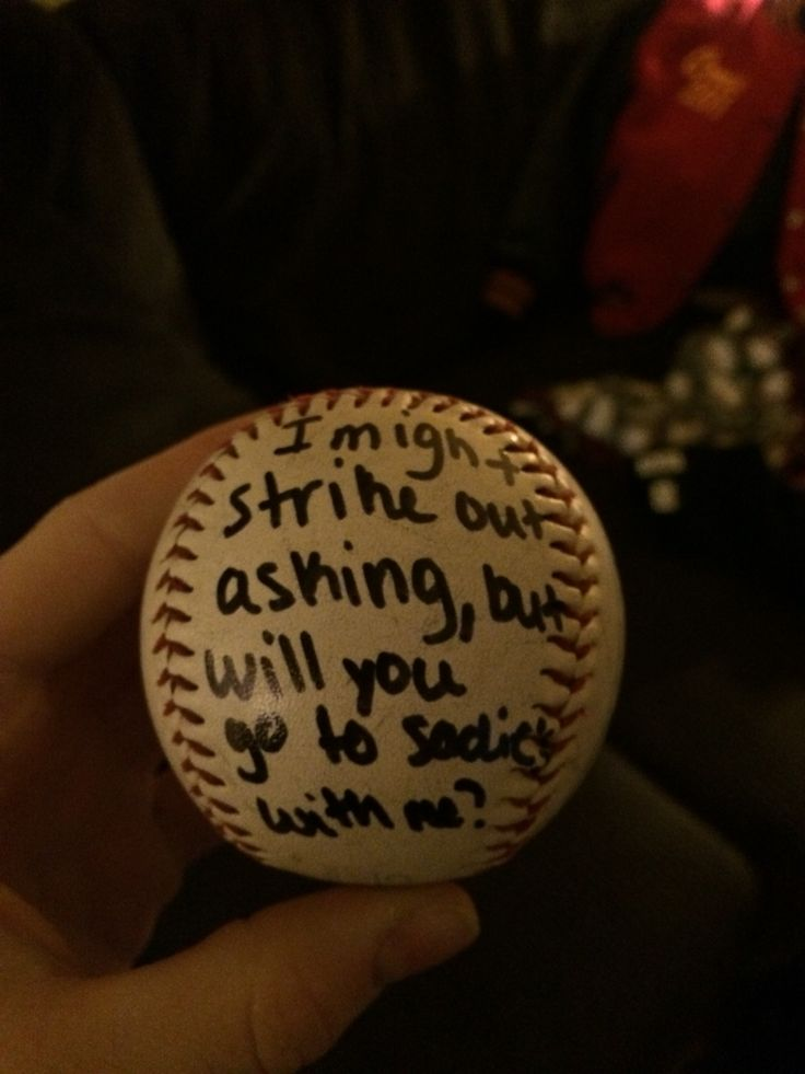 Great way to ask a baseball guy to a dance! :)