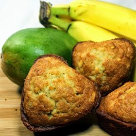 Inspired By eRecipeCards: Tropically Sweet Banana Muffins with MANGO!