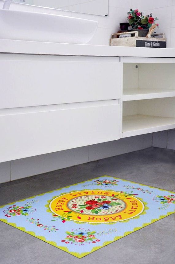 Elegant Floral Print Kitchen Rug Floral Kitchen Mat Di TweelingenHomeDecor