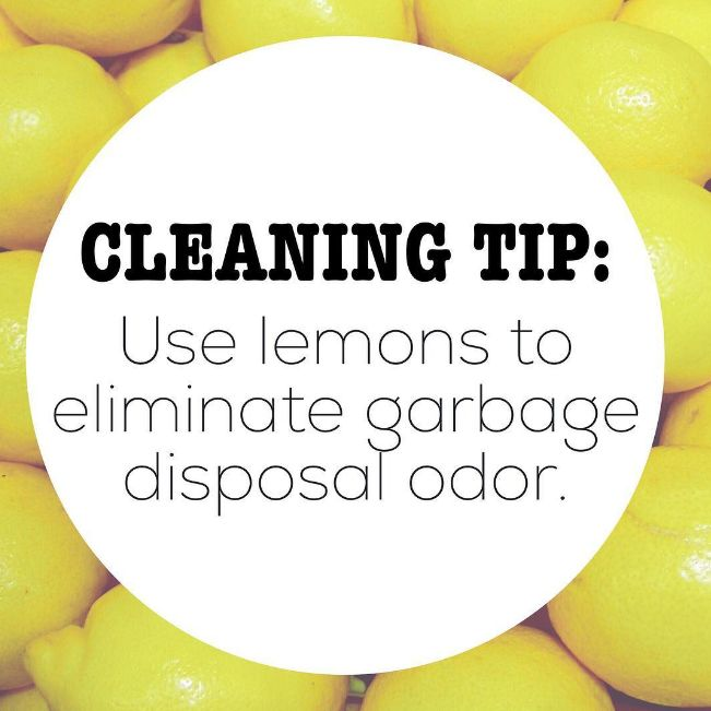 And you can also toss those used lemons down your garbage disposal to get rid of nasty smells.