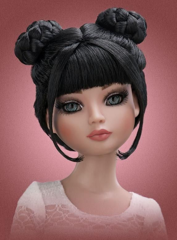Как сделать кукле прическу фото