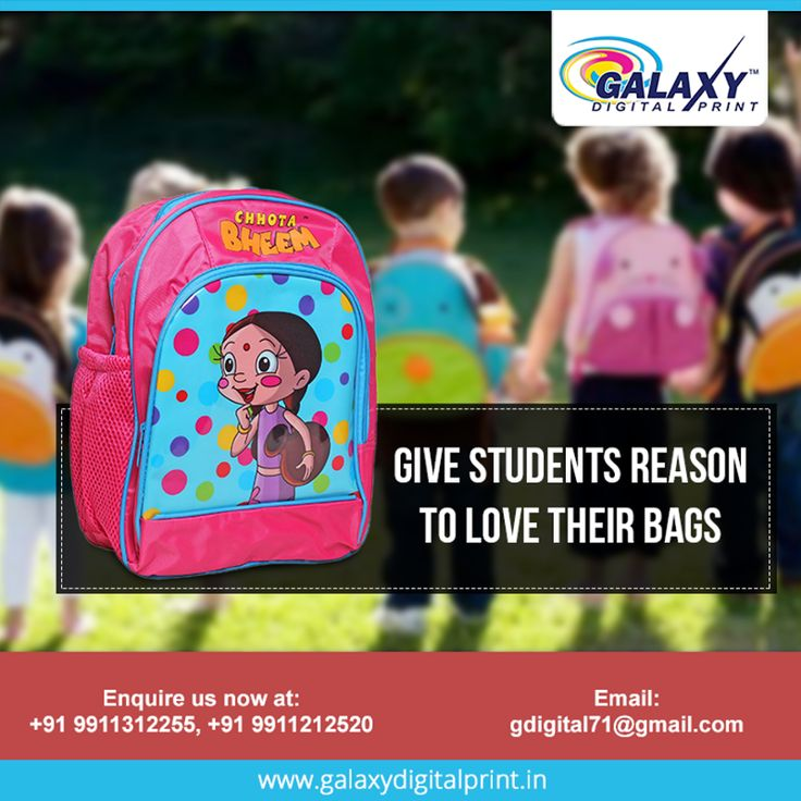 If you are running a school and provide accessories to your students. Then why not print your school name on bags? It will be proud moment for you and your students. Give bulk offer at gdigital71@gmail.com   #Bagprinting #CustomPrinting #DigitalPrinting