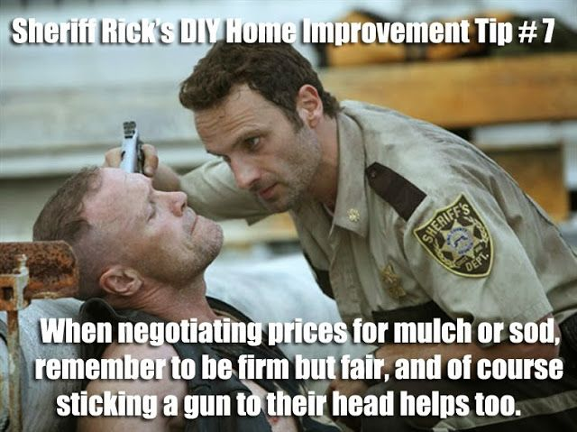 The Walking Dead's Sheriff Rick Grimes gives some helpful DIY Home Improvement…