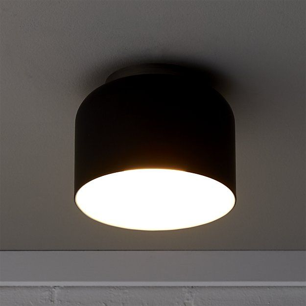 Shop bell black flush mount lamp. Oversized bell beams modern in a sculptural two-tone design by Donna Piacenza.