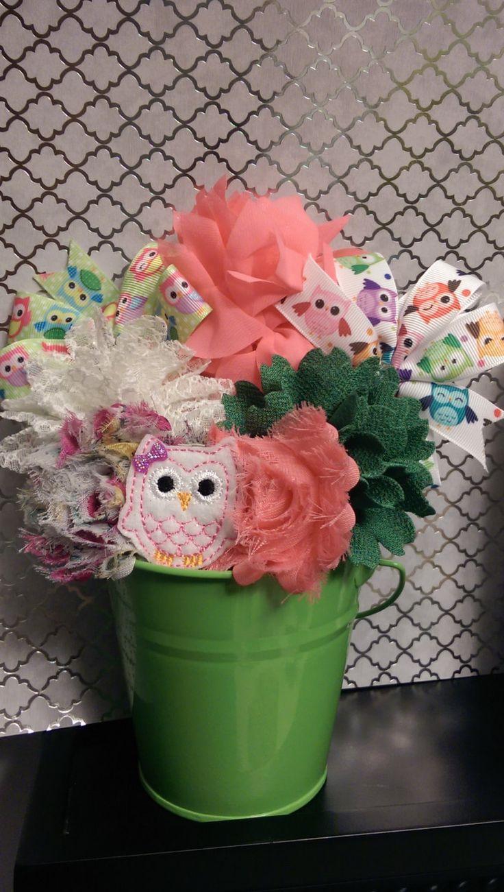 Owl Hair Bowquets by Bowquetsandbirthdays on Etsy, $35.00