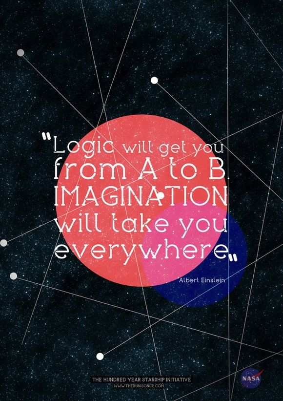 Imagination will take you everywhere... This quote always spoke volumes to me