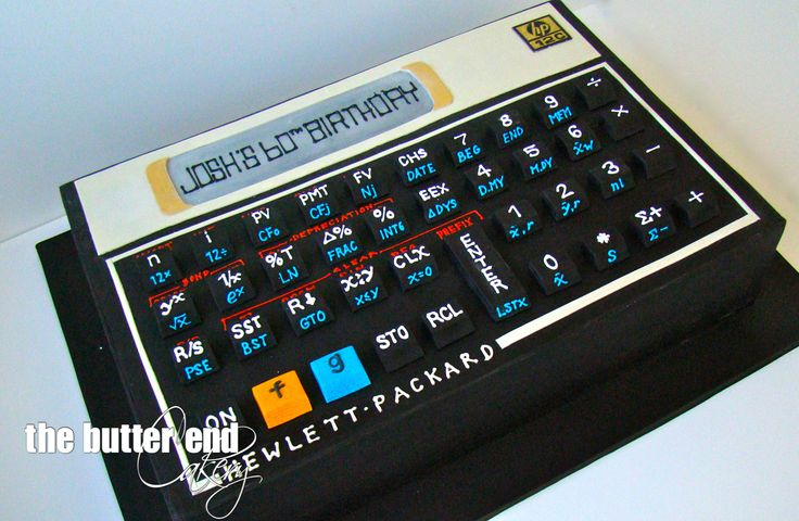 3-D sculpted HP calculator by The Butter End Cakery
