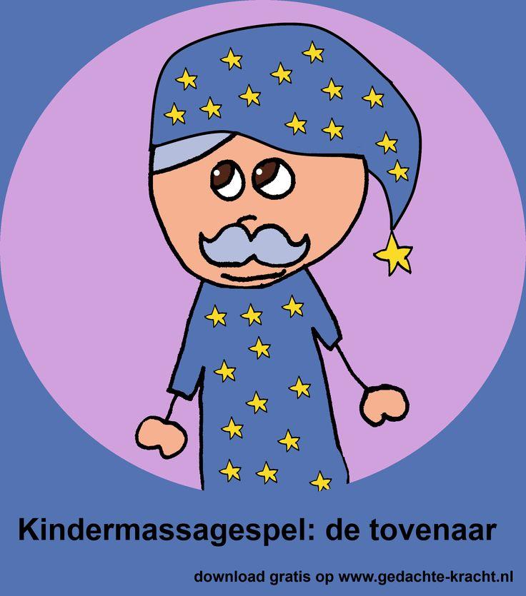 gratis kinder-massage 'de tovenaar' als PDF te downloaden op www.gedachte-kracht.nl