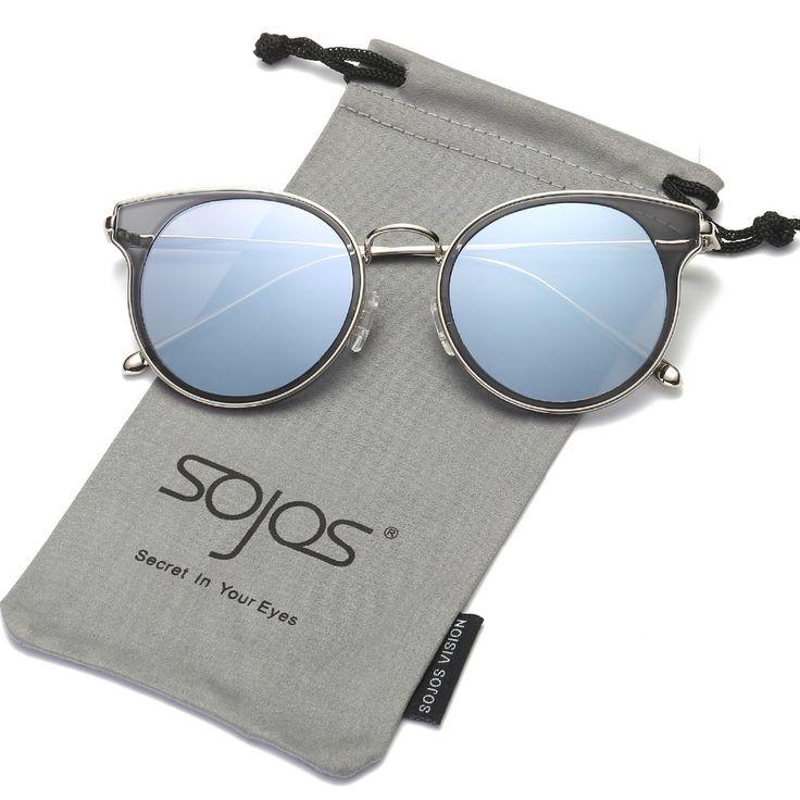 SOJOS New Fashion Cat Eye Luxury Summer Sunglasses Women 2017 Brand Designe  Mirror Glasses Uv400 oculos. Óculos De Sol ... affc90078b