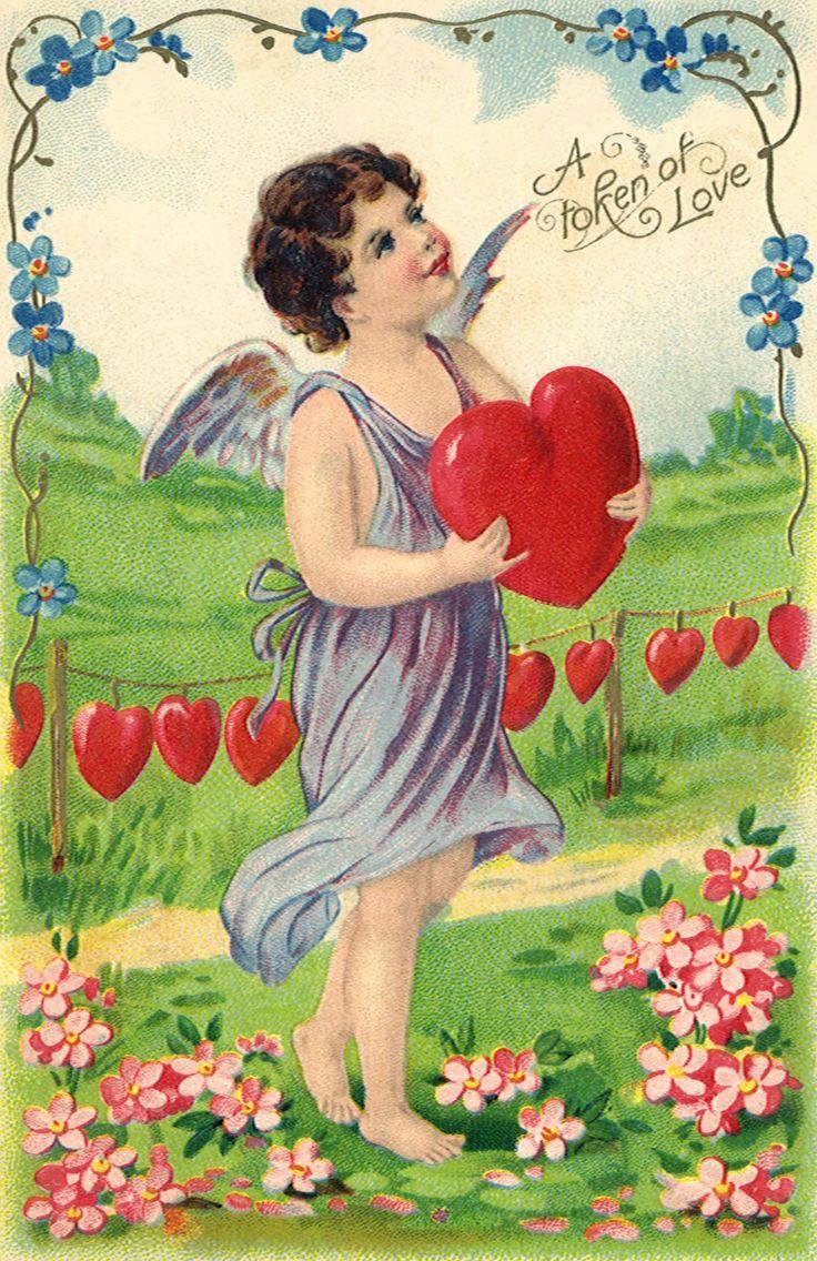 Винтажные открытки день влюбленных, паперу мятные открытки