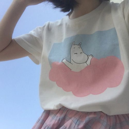 Girl's Lolita Flowers Sleeves Blouse Tops T shirts Cute Lace 3 Colors Chiffon cute Moomin pop fashion