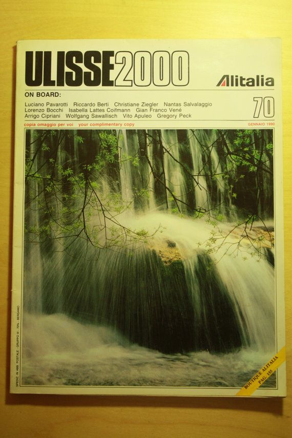 Check out this item in my Etsy shop https://www.etsy.com/listing/287417595/alitalia-italian-airline-onoard-magazine