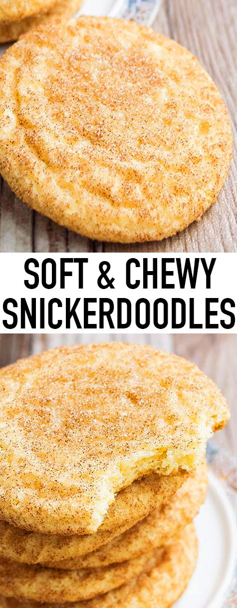 This classic soft and chewy SNICKERDOODLES recipe yields soft and chewy cookies with crispy, sugary tops. These old fashioned snickerdoodle cookies are packed with cinnamon flavors and are very easy to make. From http://cakewhiz.com