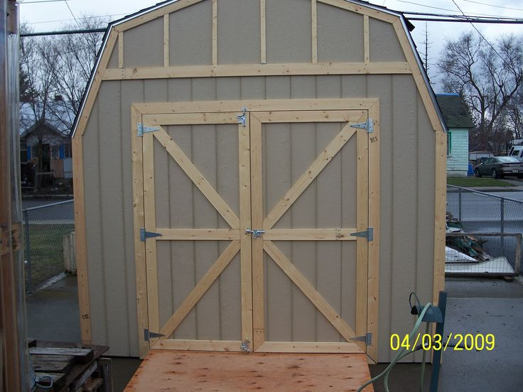 Storage Shed Barn Doors