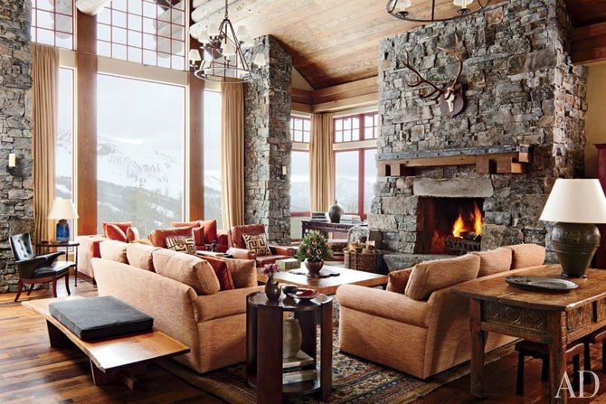 A Rustic Yet Modern Montana Ski House           Designer Michael S. Smith elevates mountain decor at a tailored retreat for a close-knit clan of winter sports enthusiasts       Text byMayer Rus | Photography byRoger Davies |  http://www.architecturaldigest.com/decor/2012-12/michael-smith-montana-mountain-home-article