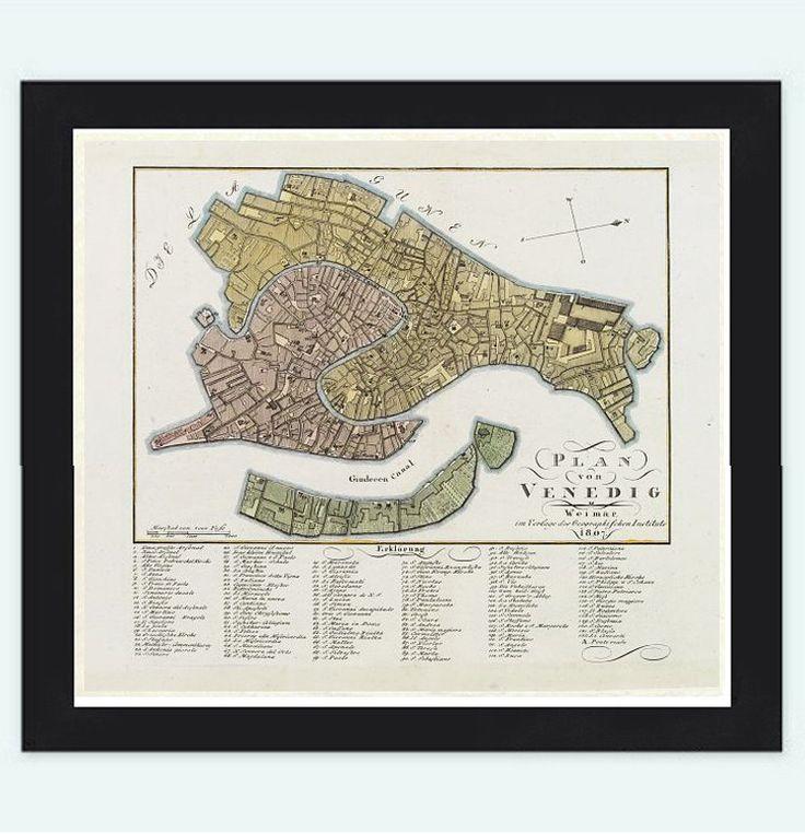 Map Of Poitiers%0A Vintage Old Map of Venice Venetia   Italy       TuscanyAgriturismoGiratola