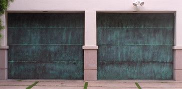 Copper/Steel Garage Doors - contemporary - garage doors - las vegas - Precision Garage Door Las Vegas