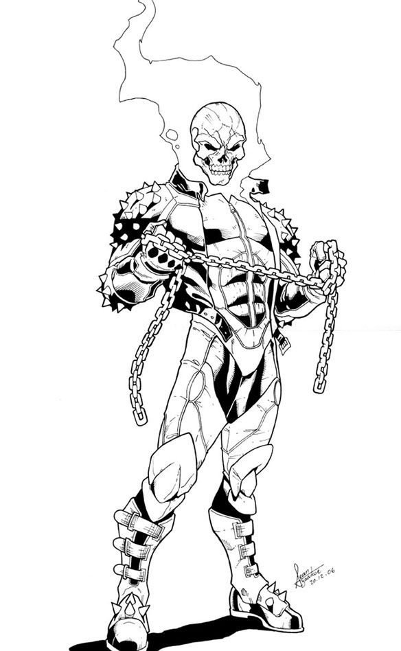 61 best Lineart Ghost Rider images on Pinterest   Ghost ...
