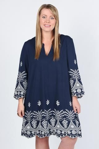 Charlotte Dress in Navy/White from Adrift Clothing $60AUD (SALE). Love the navy, love the detailing and love the fact that you just pop it over your head and look like you have put the effort in.  My favourite outfit for the summer BBQs on the social calendar