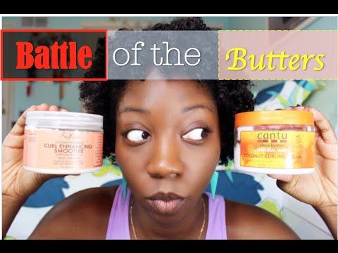 Battle of the Butters: Shea Moisture Curl Enhancing Smoothie VS Cantu Shea Coconut Curling Cream - YouTube