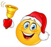 Christmas emoticon with alarm Stock Images
