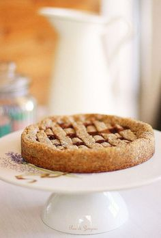 Crostata con Farina di Grano Saraceno e Confettura di Fragole