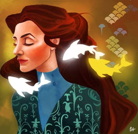 Catelyn Stark of House Tully is listed (or ranked) 14 on the list The Best Game of Thrones Fan Art You'll Ever See