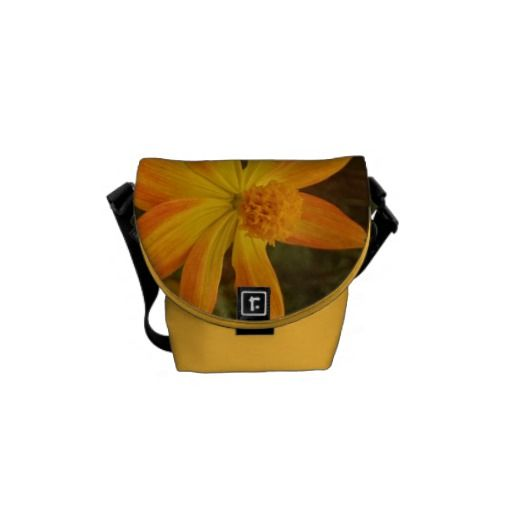 Yellow flower cute bag messenger bag