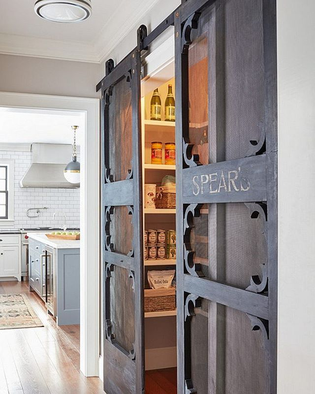 Antique doors look even better if installed as sliding #barndoors. These add a…