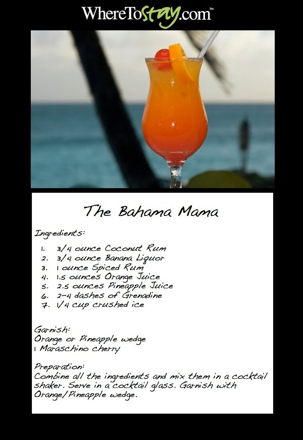 The #Bahama Mama!    Wishing you were in the #Caribbean right now? Every Friday we will post one of our favorite Caribbean #drink #recipes so you can enjoy a little taste of the Caribbean right at home!