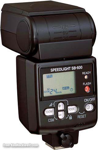 Nikon SB-600 rear  Speedlight review (flash)