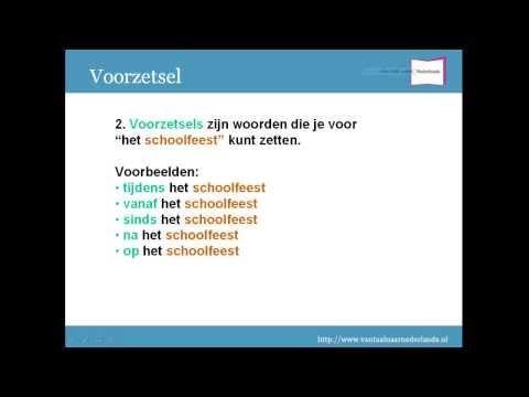 Grammatica woordsoorten: voorzetsel