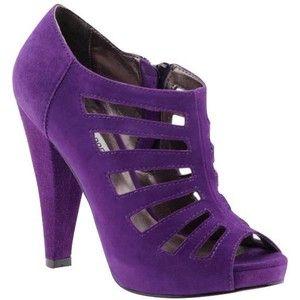 Steve Madden 'Merriee' shoes in Purple suede ✿ new look ✿ black patent