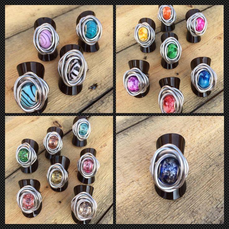 Aluminium wire ringen, handmade By me