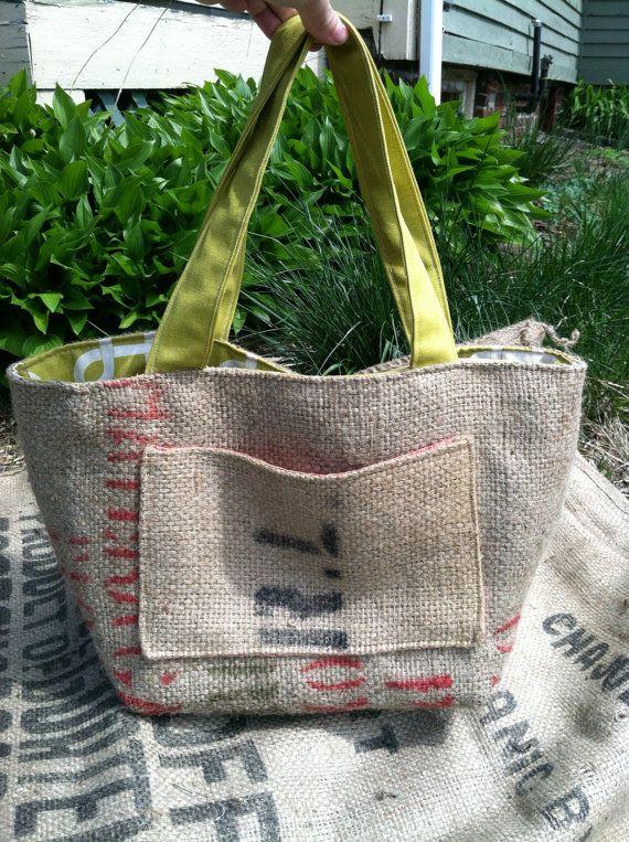 coffee bean bag repurposed