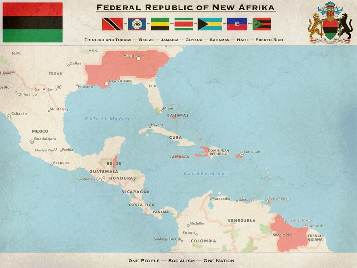 Federal Republic Of New Afrika By Kyriakoscypdeviantart On: America Map Alternate History Books At Codeve.org
