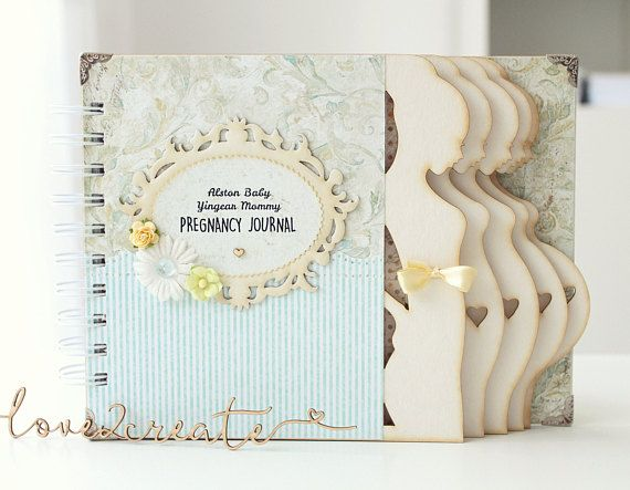Pregnancy journal/diary/album 9 months, 40 weeks in expectation .. Keeping a pregnancy diary is a great way to keep the most delicate and precious memories of this stage of life. Attractive and memorable gift for a future mom. D E S C R I P T I O N: - The journal contains printed