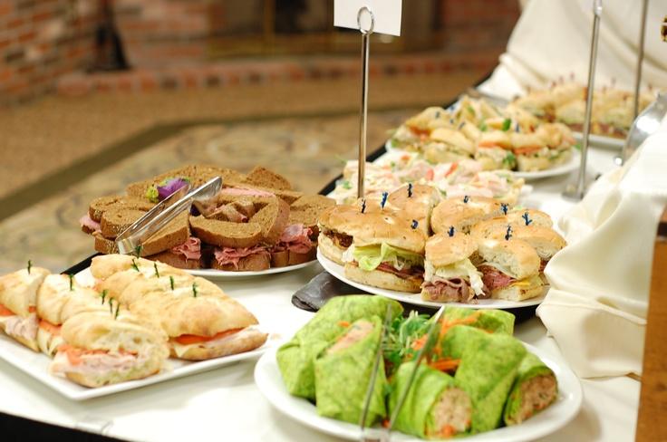 Sandwhich lunch buffet for teacher appreciation luncheon.