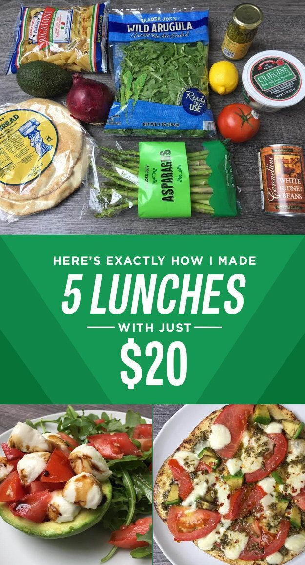 How I Made Five Trader Joe's Lunches For Less Than $20