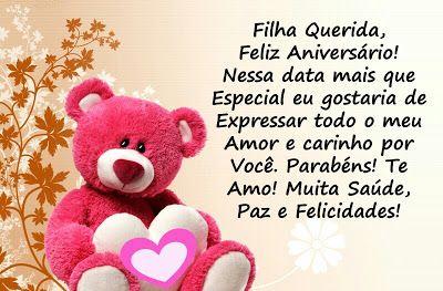 Feliz Aniversário Para Filha Querida E Amada Aniversário Happy